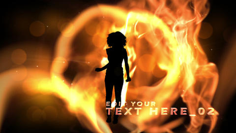 Fire Silhouette After Effects Template