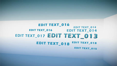 Text Corridor After Effects Template