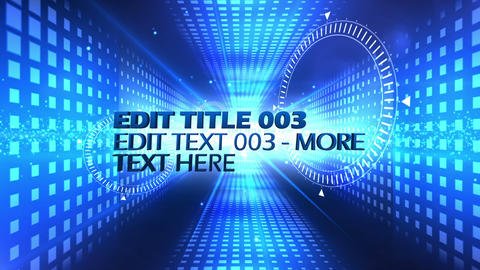 Blue Text Tunnel After Effects Template