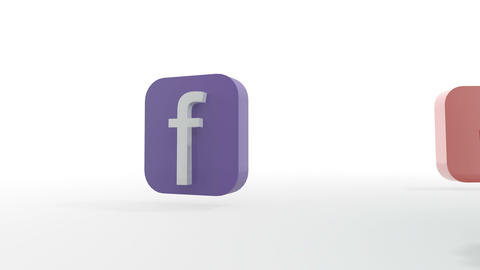 3D Social Networking Icons After Effects Template