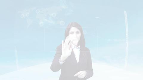 Futuristic Business Interface Woman - 1
