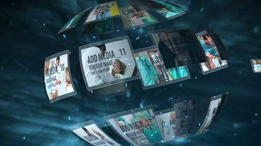 Cyber Space Display After Effects Template