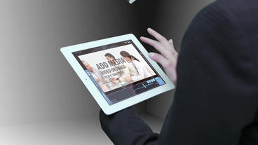 Business tablet linked with cloud 02 AE 模板