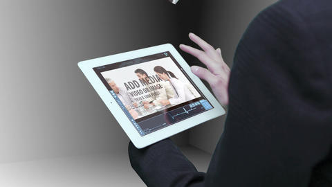 Business tablet linked with cloud 02 After Effects Template