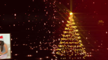Golden Christmas Display After Effects Template