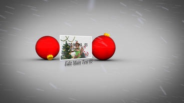 Christmas Baubles After Effects Template