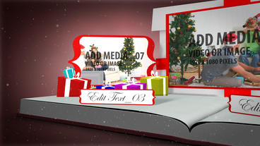 Christmas Memories Book After Effects Template