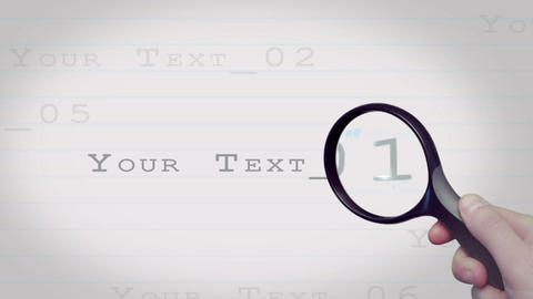 Magnified Text on Paper After Effects Template