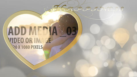 Wedding display with particles After Effects Template