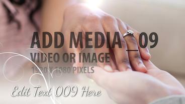 Elegant Wedding Slideshow stock footage