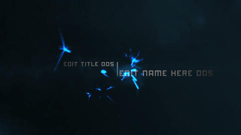 Blue Ethereal Titles After Effects Template