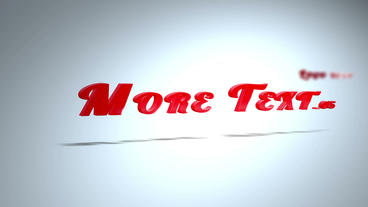 3d shiny Text intro After Effects Template