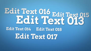 Text Cluster Flythrough After Effects Template