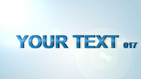 Clean Text Animation After Effects Template