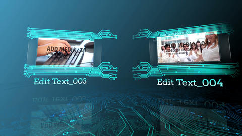Media Circuit board After Effects Template