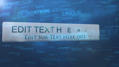 Particle Text Wall After Effects Template