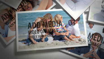 Overlaping Photos After Effects Template