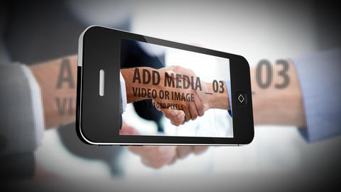 Smartphone Slideshow Logo After Effects Template