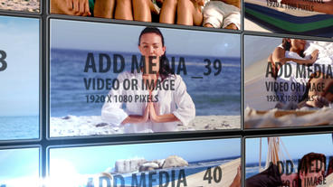 Unfolding Video wall After Effects Template