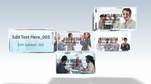 Stacked Media Boxes After Effects Template