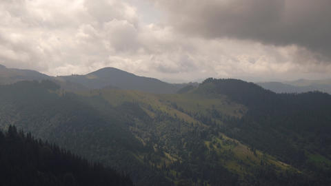 Movement of clouds in Mountains Stock Video Footage