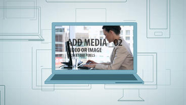 Graphic Device Flythrough After Effects Template