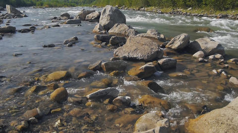 River, Mountains, Nature stock footage