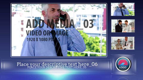 Clean lower thirds in glass case After Effects Template