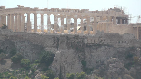 Acropolis Parthenon Zoom Out stock footage
