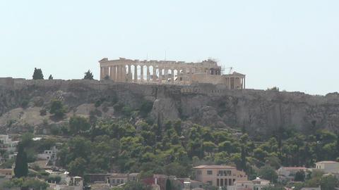 Acropolis Parthenon zoom out Stock Video Footage