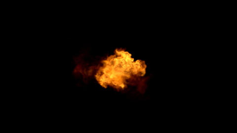 Explosion with Alpha Channel 01 Stock Video Footage