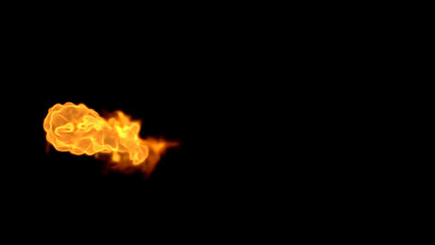 Explosion with Alpha Channel 03 Stock Video Footage