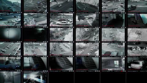 4K UHD Stock footage Security Monitor Video Wall Stock Video Footage