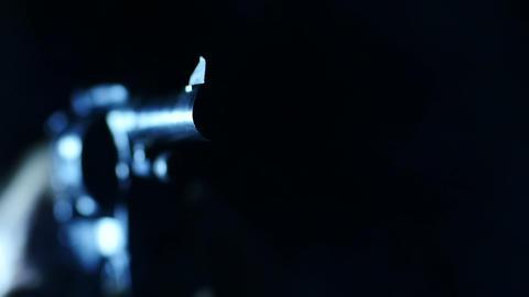 Stock Footage Gun Revolver Shoots Macro Stock Video Footage
