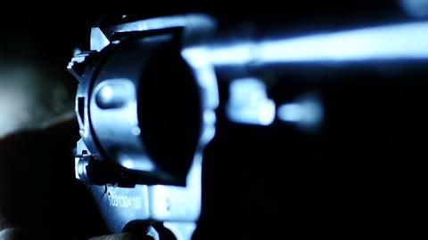 Stock Footage Revolver Makes Blank Shots Macro Footage