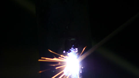 Stock Footage Bright Welding Sparks Slow Motion Stock Video Footage