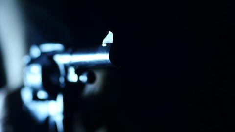 Stock Footage Revolver Shoots Macro Stock Video Footage