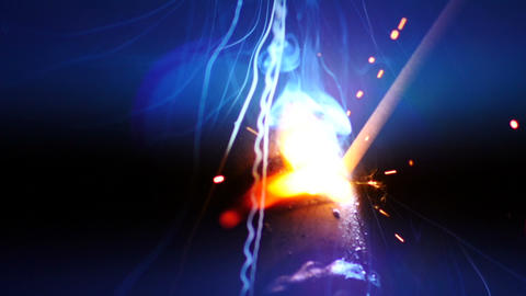 Stock Footage Welding Sparks Fireworks Slow Motion Stock Video Footage