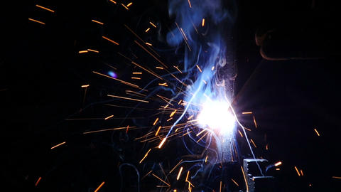Stock Footage Welding Sparks Slow Motion Stock Video Footage