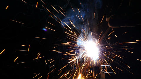Stock Footage Welding Sparks Slow Motion Footage