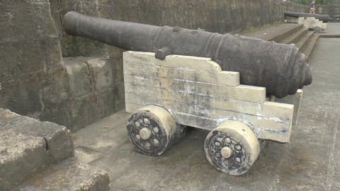 vintage cannon view from the side Footage