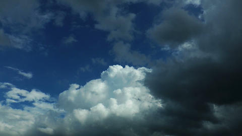 wheater changes time-lapse clouds Stock Video Footage