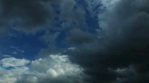 Wheater Changes Time-lapse Clouds stock footage