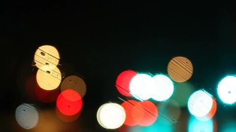 rain on windshield Stock Video Footage