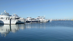 Time Lapse of Yachts Berthed at Fremantle Fishing Stock Video Footage