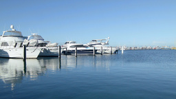 Time Lapse of Yachts Berthed at Fremantle Fishing  Footage