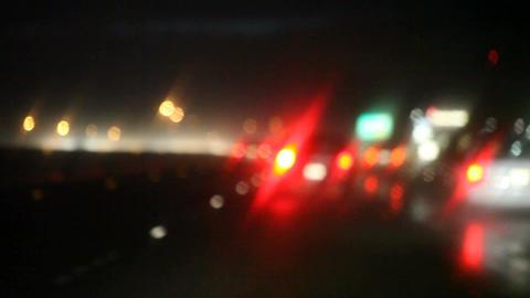 Rain , Traffic , Turn Signals stock footage