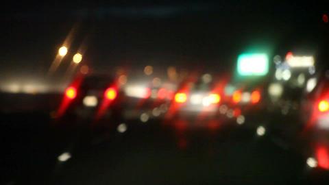 rain , traffic , turn signals Stock Video Footage