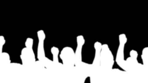 group man silhouette white color alpha Stock Video Footage