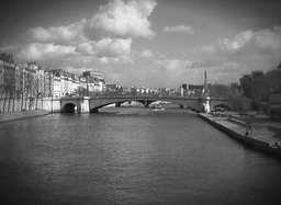 Old Paris Bridge And River Footage